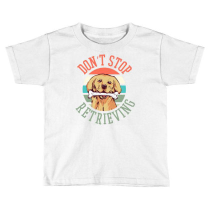 Retriever Dog Toddler T-shirt Designed By Panduart