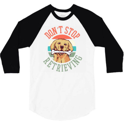 Retriever Dog 3/4 Sleeve Shirt Designed By Panduart