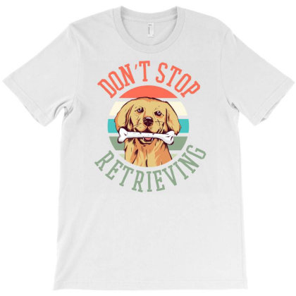 Retriever Dog T-shirt Designed By Panduart