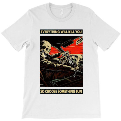 Funny Skeleton Racing T-shirt Designed By Colorfull Art