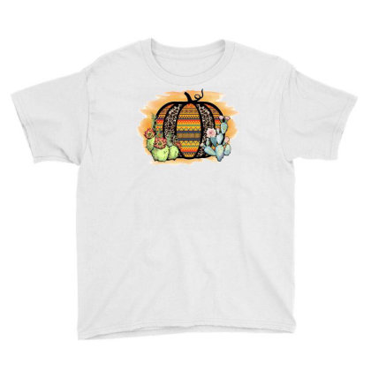 Aztec And Leopard Pumpkin Youth Tee Designed By Badaudesign