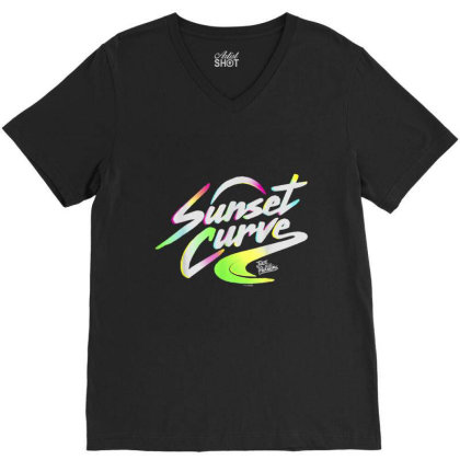Julie And The Phantoms Sunset Curve Logo V-neck Tee Designed By Conco335@gmail.com