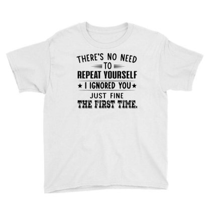 There's No Need To Repeat Yourself Youth Tee Designed By Schulz-12