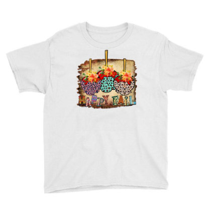 Fall Aplle Candy Youth Tee Designed By Badaudesign