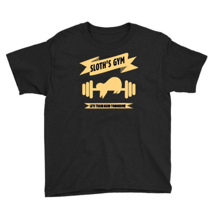 Sloth S Gym Youth Tee Designed By Bettercallsaul