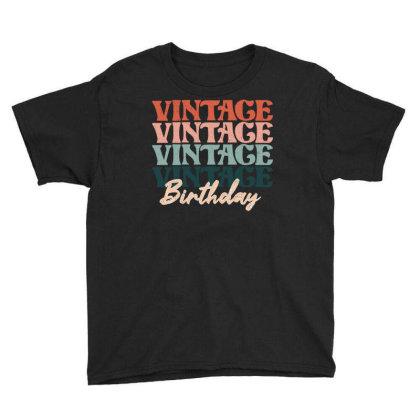Vintage Birthday Youth Tee Designed By Badaudesign