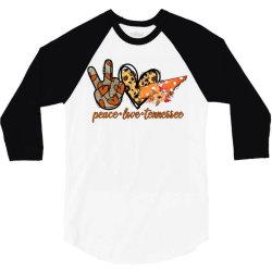 peace love pumpkin tennessee 3/4 Sleeve Shirt | Artistshot