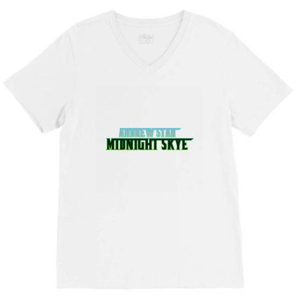 Midnight Skye Merch V-neck Tee Designed By Andrewstar