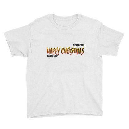 Happy Christmas Merch Youth Tee Designed By Andrewstar