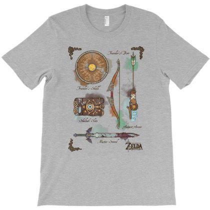 Zelda Breath Of The Wild Link Inventory Graphic T-shirt Designed By Conco335@gmail.com
