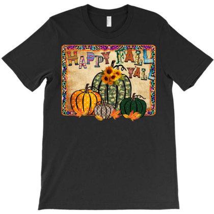 Happy Fall Yall T-shirt Designed By Badaudesign
