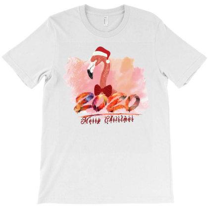 Merry Christmas Flamingo T-shirt Designed By Alparslan Acar