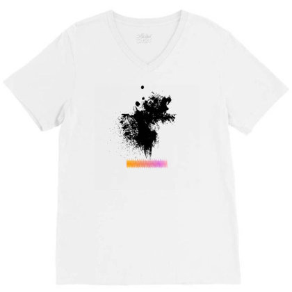 Splashed Ink! V-neck Tee Designed By Shrez
