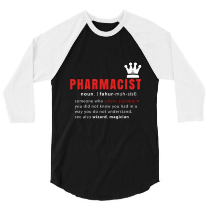 Pharmacist Is Solving Problems 3/4 Sleeve Shirt Designed By 1y-design