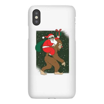 Santa Bigfoot Iphonex Case Designed By Panduart