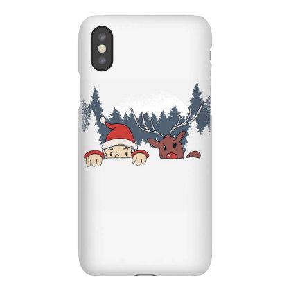 Santa And Reindeer Iphonex Case Designed By Panduart