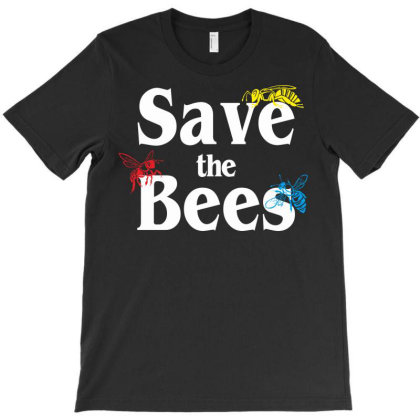 Save The Bees T-shirt Designed By Kiva27