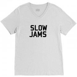 slow jams V-Neck Tee | Artistshot