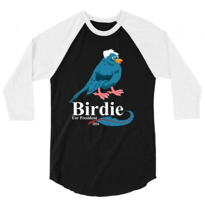 Birdie  Sanders 3/4 Sleeve Shirt Designed By Rardesign