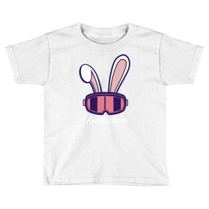 Ski Bunny Toddler T-shirt Designed By Panduart