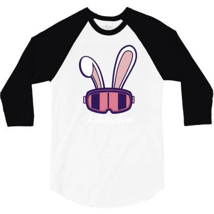 Ski Bunny 3/4 Sleeve Shirt Designed By Panduart