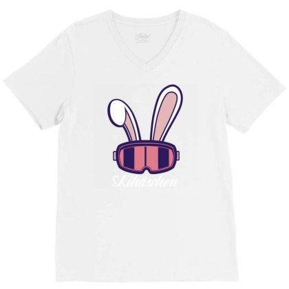 Ski Bunny V-neck Tee Designed By Panduart