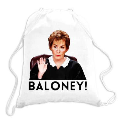 Judge Judy Baloney Drawstring Bags Designed By Colorfull Art
