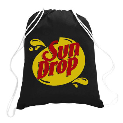 Sun Drop Citrus Soda Drawstring Bags Designed By Kamprett Apparel