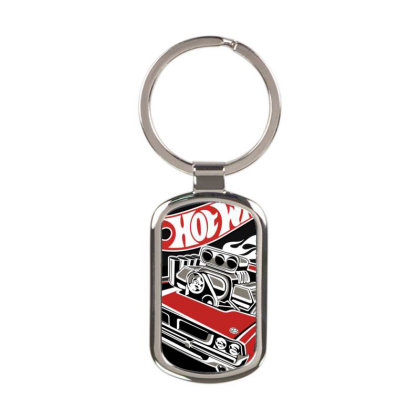 Hot Wheels Rectangle Keychain Designed By Schulz-12