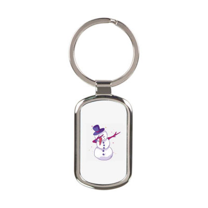 Snowman Dab Rectangle Keychain Designed By Panduart