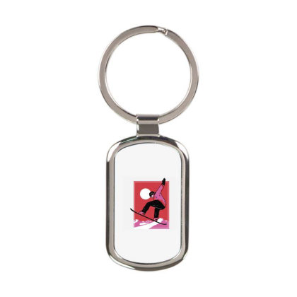 Snowboarder Rectangle Keychain Designed By Panduart