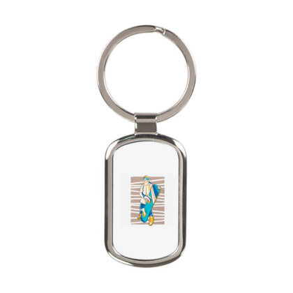 Snowboarder People Rectangle Keychain Designed By Panduart