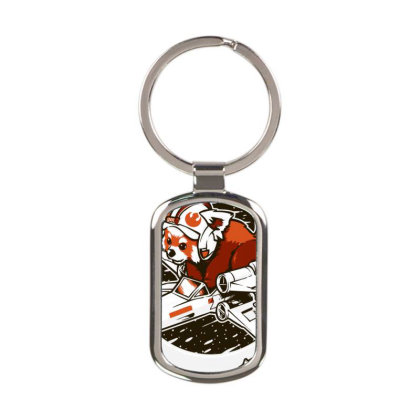 Red Panda, Standing Rectangle Keychain Designed By Schulz-12