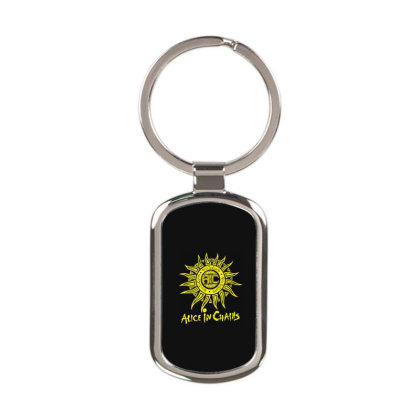 Top Zz814 Alice In Chains Sun Logo Best Trending Rectangle Keychain Designed By Schulz-12
