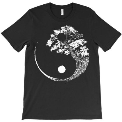 Yin Yang Tree License Plate T-shirt Designed By Schulz-12