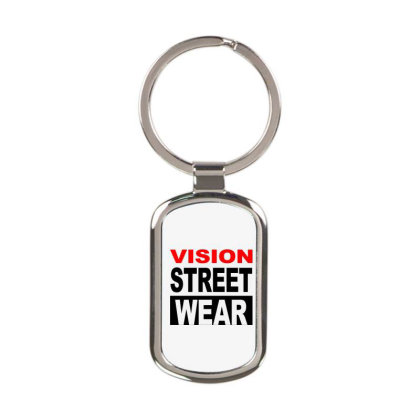 Vision Skateboards Rectangle Keychain Designed By Schulz-12