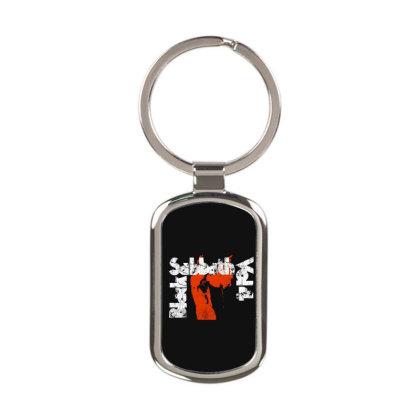 Black Sabbath Vintage Rectangle Keychain Designed By Creative Tees