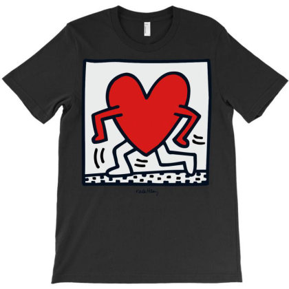 Keith Haring   Walking Heart Cropped T-shirt Designed By Schulz-12