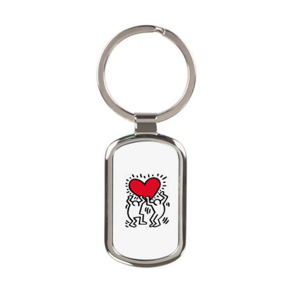 Keith Haring Big Love White Rectangle Keychain Designed By Schulz-12