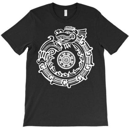 Aztec Sun Dragon T-shirt Designed By Schulz-12