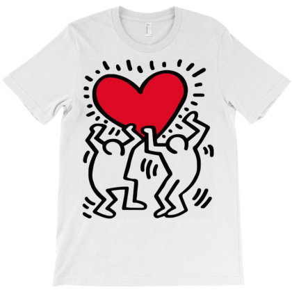 Keith Haring Big Love White T-shirt Designed By Schulz-12