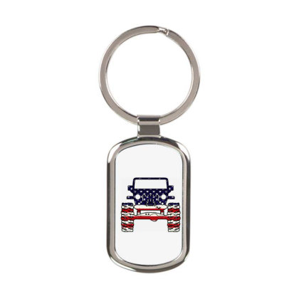 American Jeep Rectangle Keychain Designed By Schulz-12
