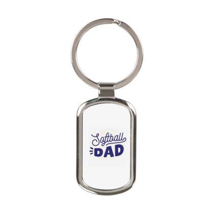 Softball Dad Rectangle Keychain Designed By Panduart