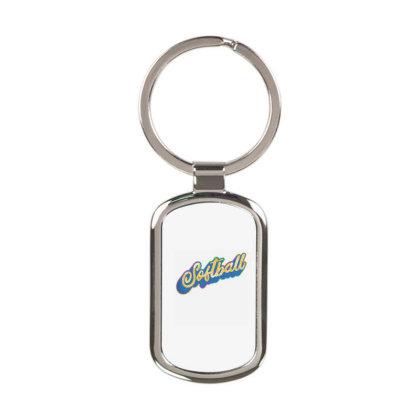 Softball 1 Rectangle Keychain Designed By Panduart