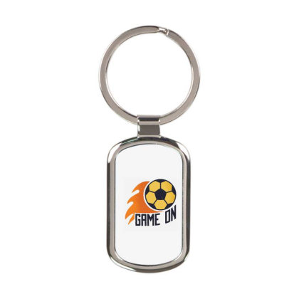 Soccer Game On Rectangle Keychain Designed By Panduart