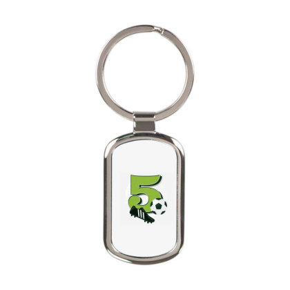 Soccer 5th Birthday Rectangle Keychain Designed By Panduart