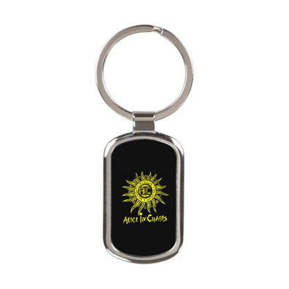 Alice In Chains Logo Rectangle Keychain Designed By Kimochi