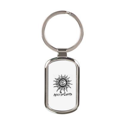 Alice In Chains Sun Black Logo Rectangle Keychain Designed By Kimochi