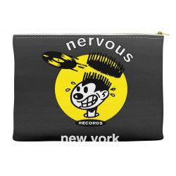 nervous records Accessory Pouches | Artistshot