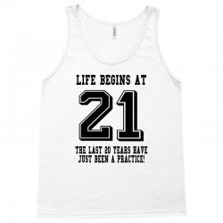 21st birthday life begins at 21 Tank Top | Artistshot